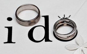 надпись i do с обручальным кольцом