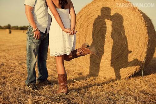 поцелуй жениха и невесты: тень